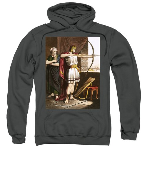 Joash Shooting Arrows At The Command Of Elisha Sweatshirt
