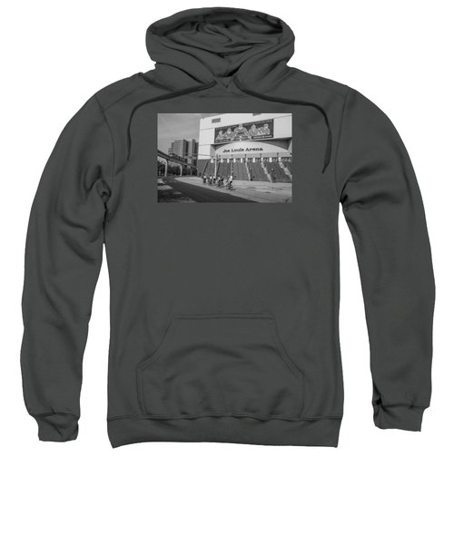 Joe Louis Arena Black And White With Bikers Sweatshirt
