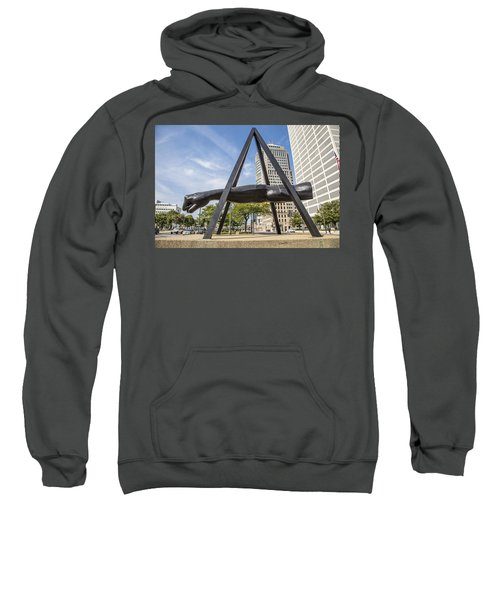 Joe Louis Fist In Detroit In Color  Sweatshirt