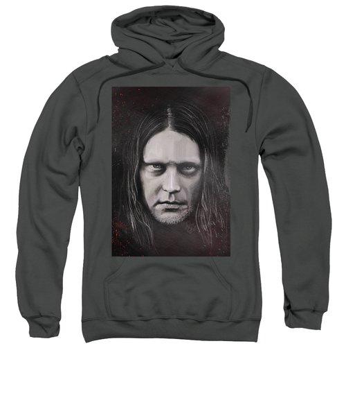 Sweatshirt featuring the drawing Jonas P Renkse Musician From Katatonia Band By Julia Art by Julia Art