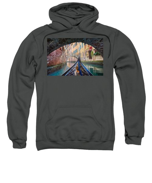 Journey Through Dreams - A Ride On The Canals Of Venice, Italy Sweatshirt