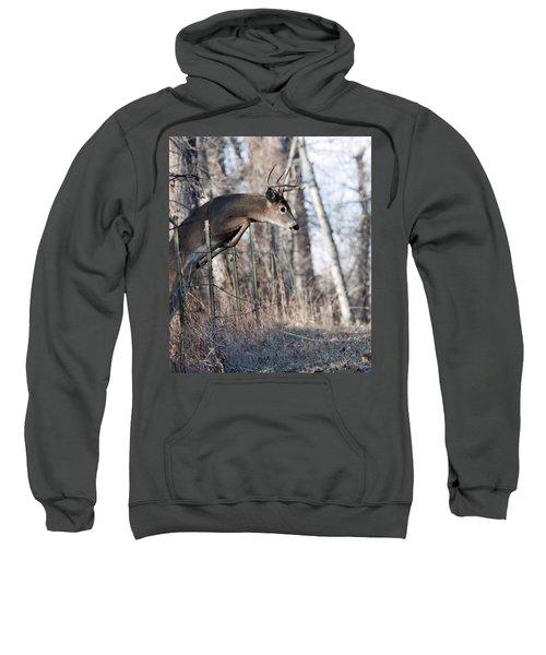 Jumping White-tail Buck Sweatshirt