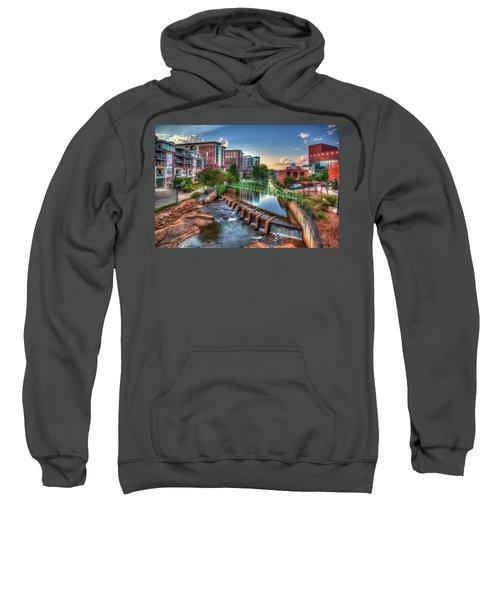 Just Before Sunset 2 Reedy River Falls Park Greenville South Carolina Art Sweatshirt