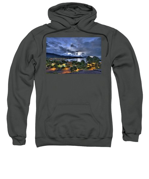 Kaneohe Bay Night Hdr Sweatshirt