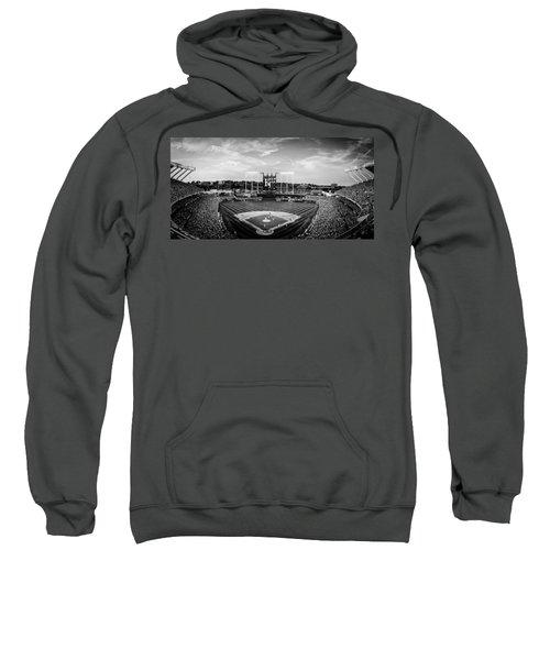 Kauffman Stadium - Bw Pano Sweatshirt
