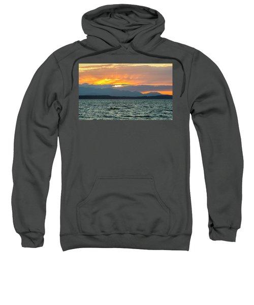 Kayaking In The Puget Sound Sweatshirt