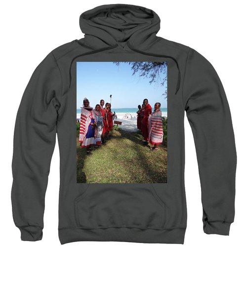 Kenya Wedding On Beach Maasai Bridal Welcome Sweatshirt