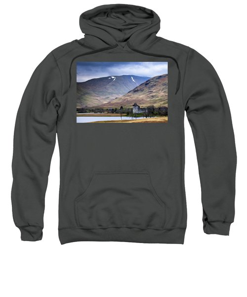 Kilchurn Castle On Loch Awe In Scotland Sweatshirt