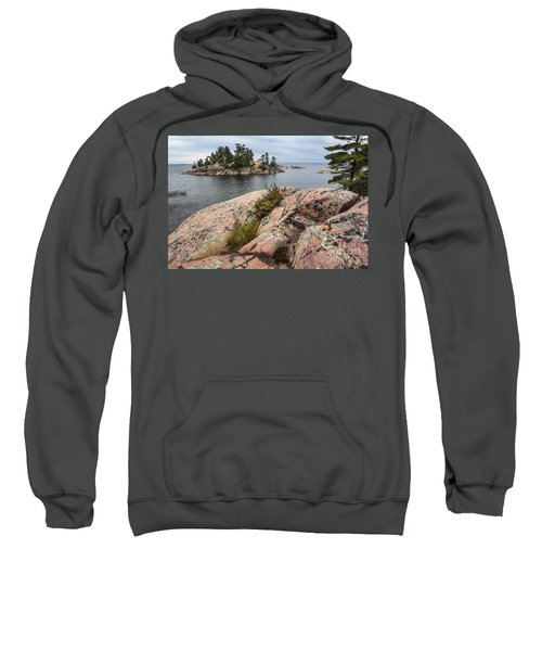 Killarney-island-pink Rocks-4539 Sweatshirt