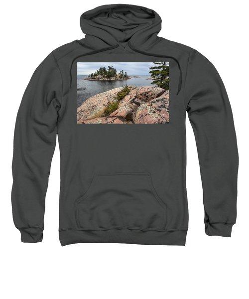 Killarney-island-pink Rocks-4539 Sweatshirt