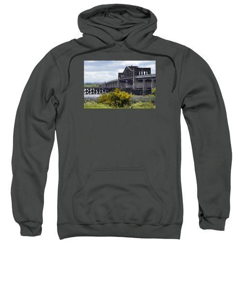 Sweatshirt featuring the photograph Kincardine Bridge by Jeremy Lavender Photography