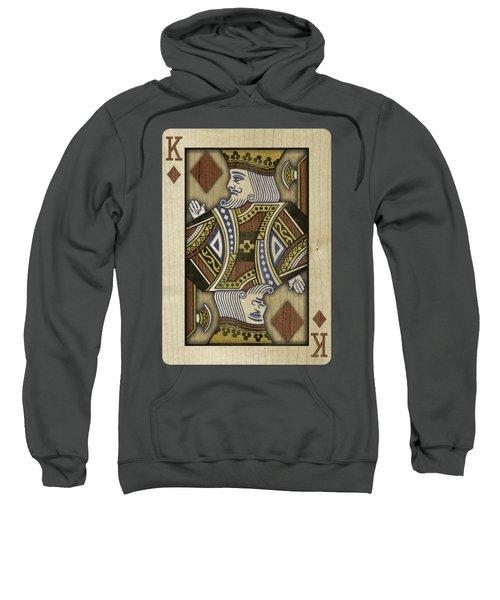 King Of Diamonds In Wood Sweatshirt