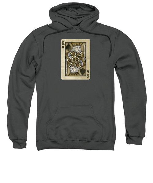 King Of Spades In Wood Sweatshirt