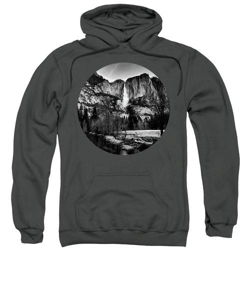 King Of Waterfalls, Black And White Sweatshirt by Adam Morsa