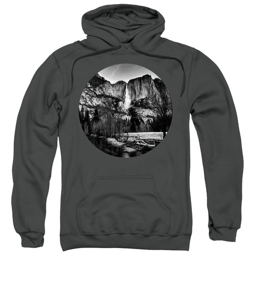 King Of Waterfalls, Black And White Sweatshirt