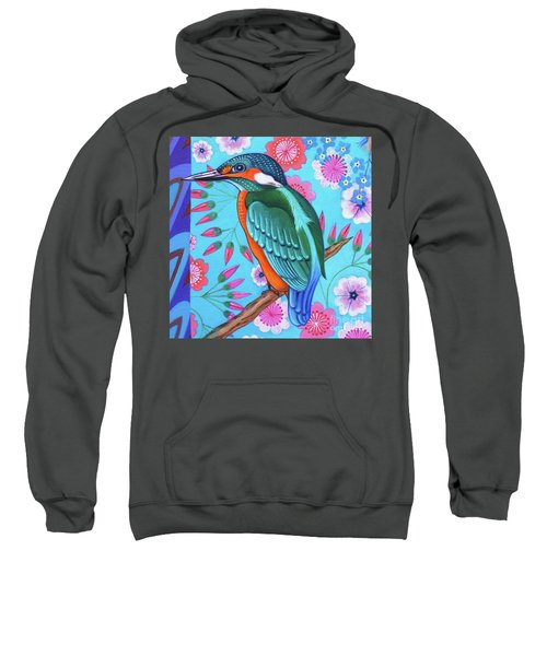 Kingfisher Sweatshirt by Jane Tattersfield
