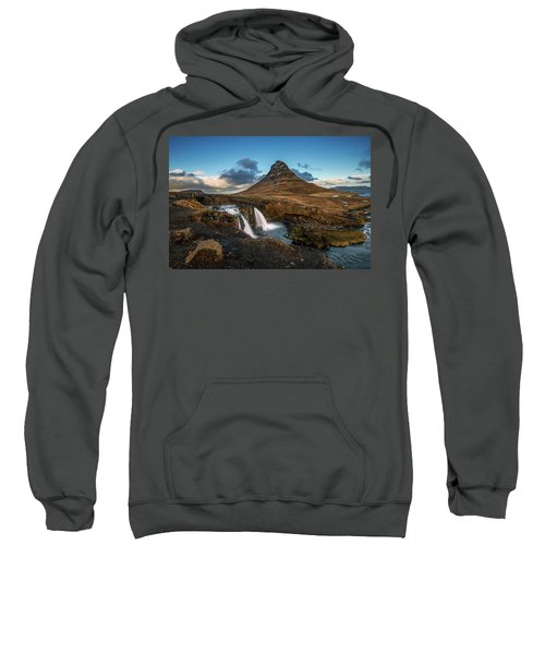 Kirkjufellsfoss Waterfall And Kirkjufell Mountain, Iceland Sweatshirt