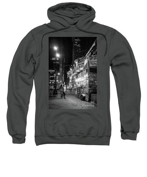 Knish, New York City  -17831-17832-bw Sweatshirt