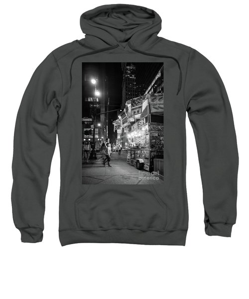 Knish, New York City  -17831-17832-bw Sweatshirt