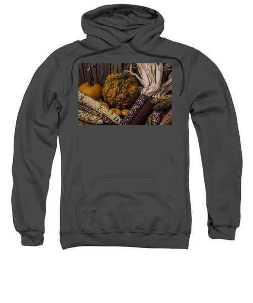 Knuklehead Pumpkin And Indian Corn Sweatshirt