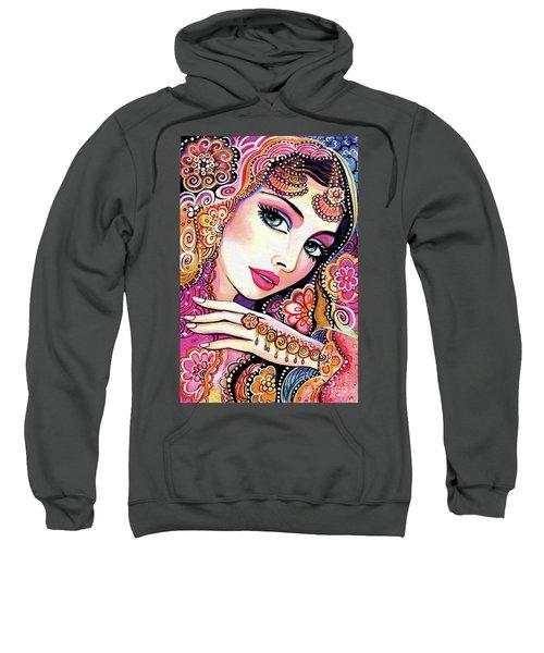 Sweatshirt featuring the painting Kumari by Eva Campbell