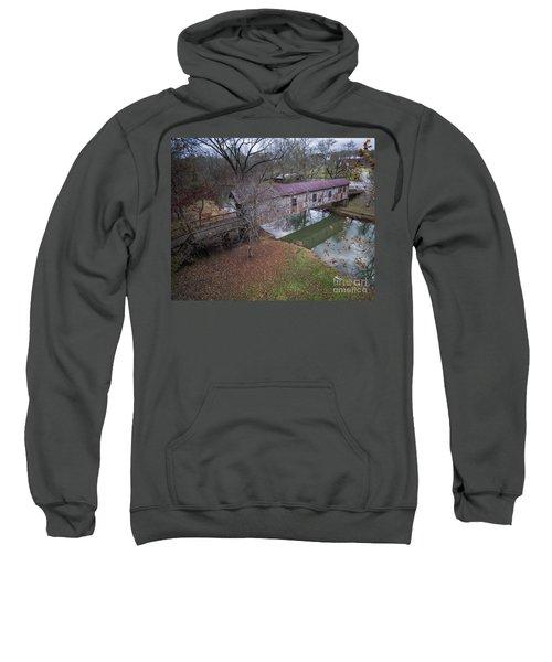 Kymulga Covered Bridge Aerial 1 Sweatshirt