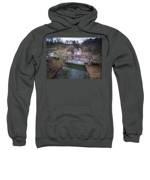 Kymulga Covered Bridge Aerial 2 Sweatshirt