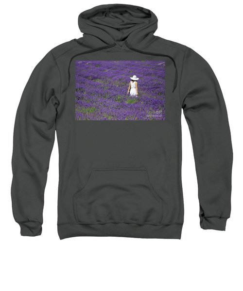 Lady In Lavender Field Sweatshirt