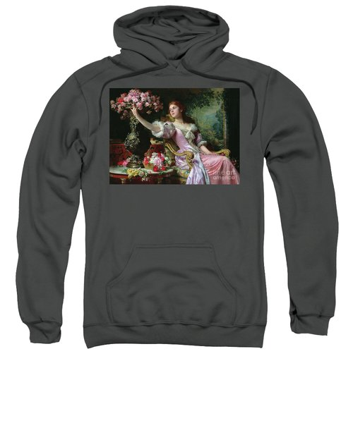 Lady With Flowers Sweatshirt