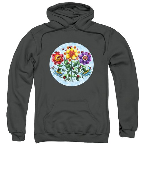 Ladybug Playground On A Summer Day Sweatshirt by Shelley Wallace Ylst