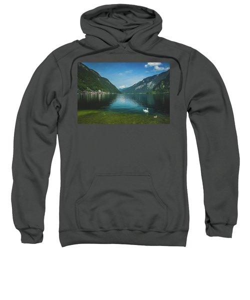 Lake Hallstatt Swans Sweatshirt