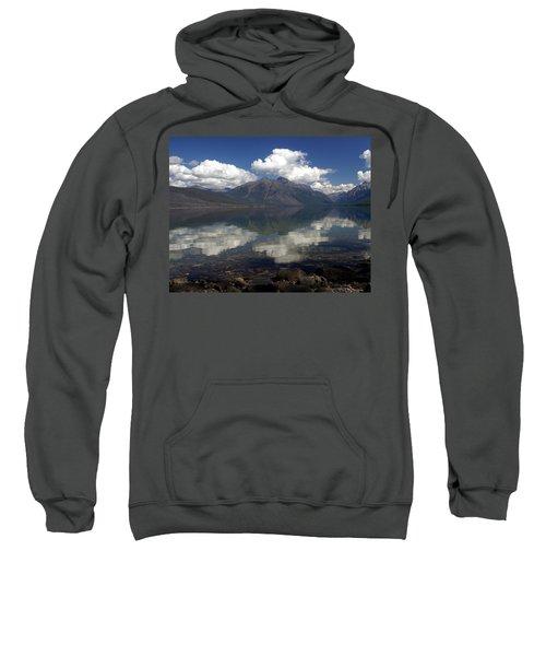 Lake Mcdonald Reflection Glacier National Park Sweatshirt