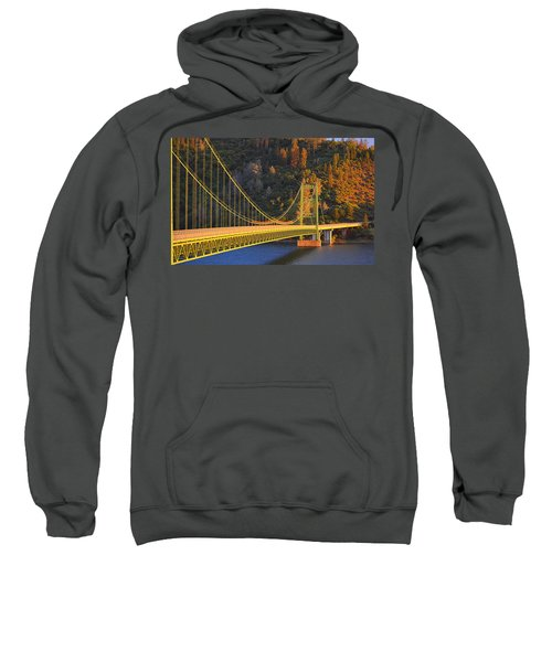 Lake Oroville Green Bridge At Sunset Sweatshirt