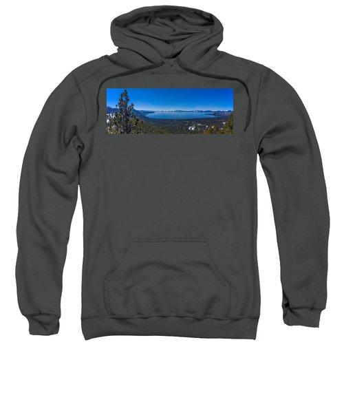 Lake Tahoe Spring Overlook Panoramic Sweatshirt