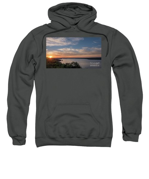 Lake Travis During Sunset With Clouds In The Sky Sweatshirt