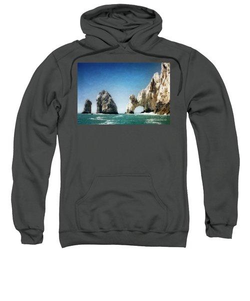 Sweatshirt featuring the photograph Lands End by Scott Kemper