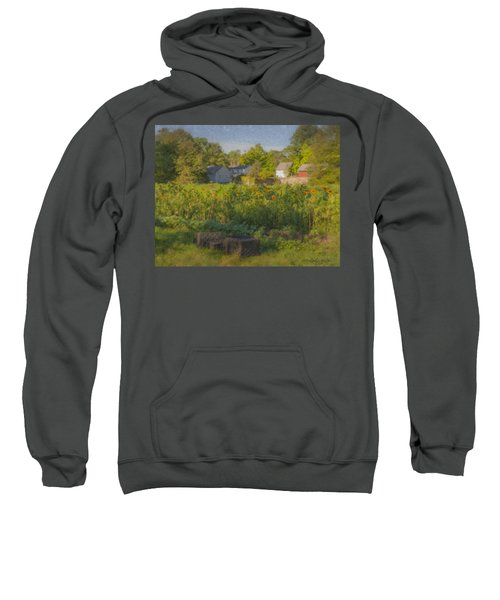 Langwater Farm Sunflowers And Barns Sweatshirt