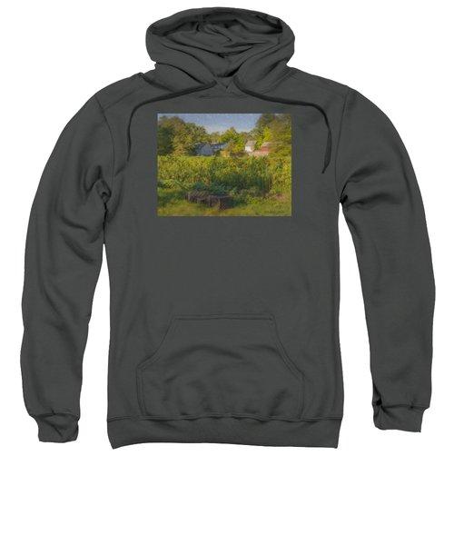 Langwater Farm Sunflowers And Barns Sweatshirt