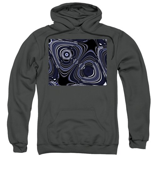 Lapis And Chrome Abstract Sweatshirt