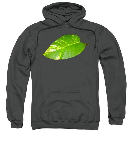 Sweatshirt featuring the digital art Large Leaf Art by Francesca Mackenney