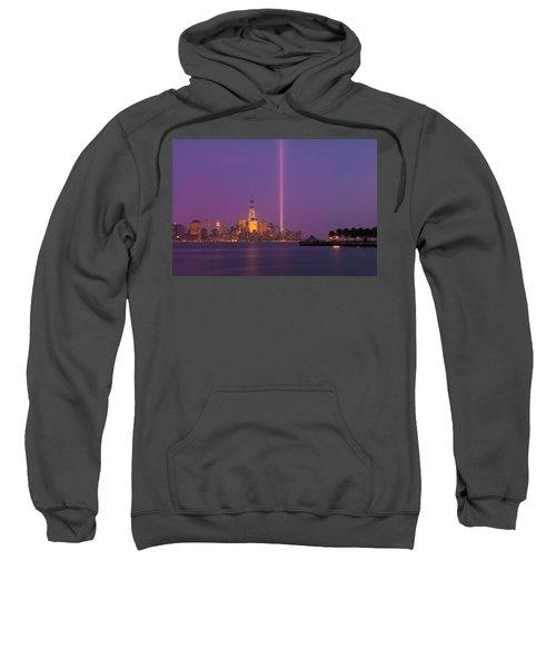 Laser Twin Towers In New York City Sweatshirt