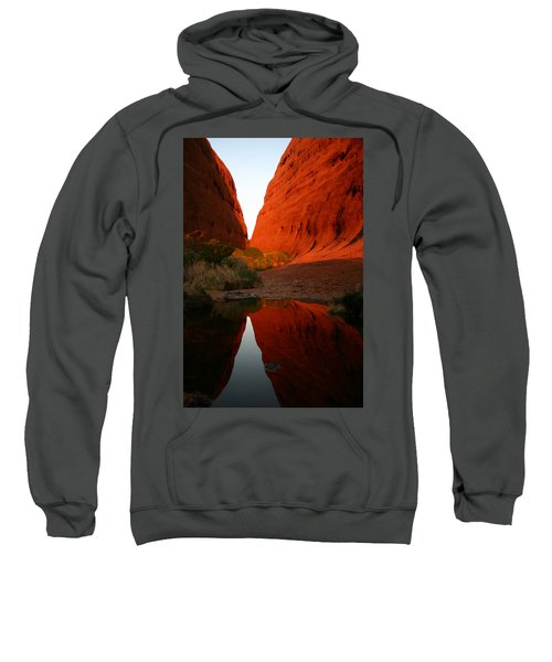 Late Afternoon Light And Reflections At Kata Tjuta In The Northern Territory Sweatshirt