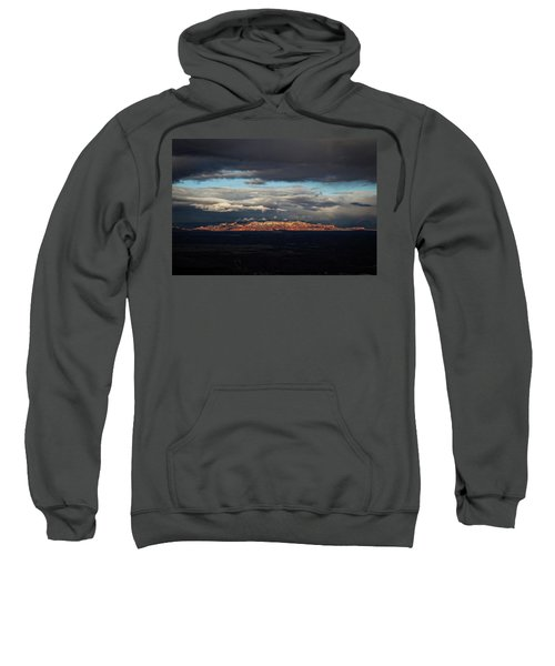Late Light On Red Rocks With Storm Clouds Sweatshirt