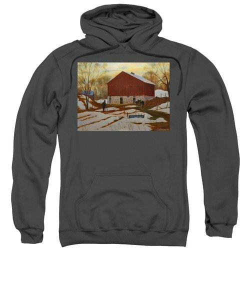 Late Winter At The Farm Sweatshirt