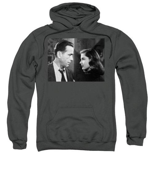 Lauren Bacall Humphrey Bogart Film Noir Classic The Big Sleep 2 1945-2015 Sweatshirt
