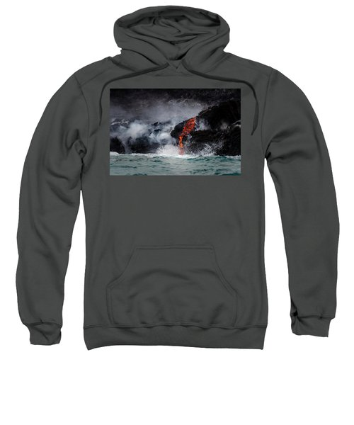 Lava Dripping Into The Ocean Sweatshirt
