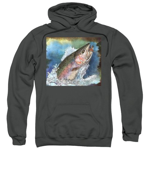 Leaping Rainbow Trout Sweatshirt