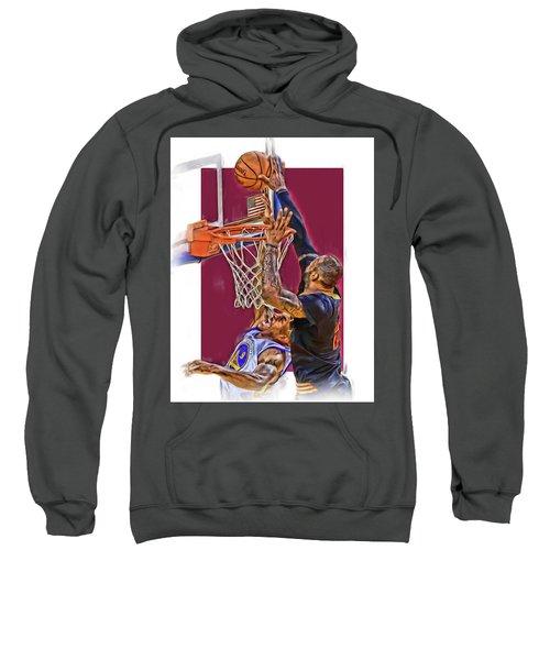 Lebron James Cleveland Cavaliers Oil Art Sweatshirt