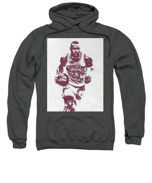 Lebron James Cleveland Cavaliers Pixel Art 4 Sweatshirt