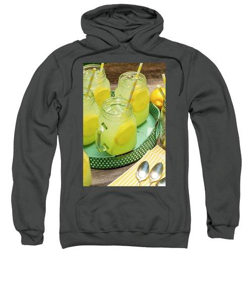 Lemonade In Blue Tray Sweatshirt